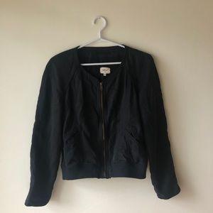 Wilfred Black Bomber Jacket